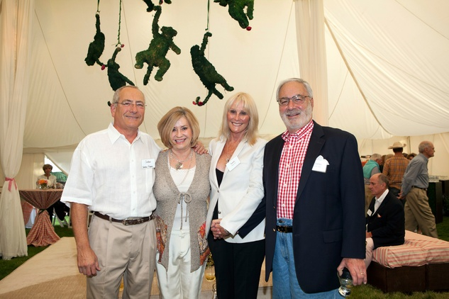 Jordan and Peggy Rogers, from left, and Sandy and Charles Israel at M.D. Anderson in Aspen July 2014