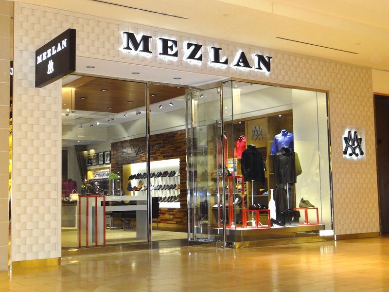Mezlan men's clothing store storefront The Galleria