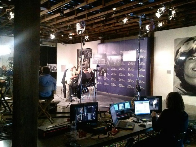 live on the set of Face the Nation with Bob Schieffer at The Sixth Floor Museum closed set