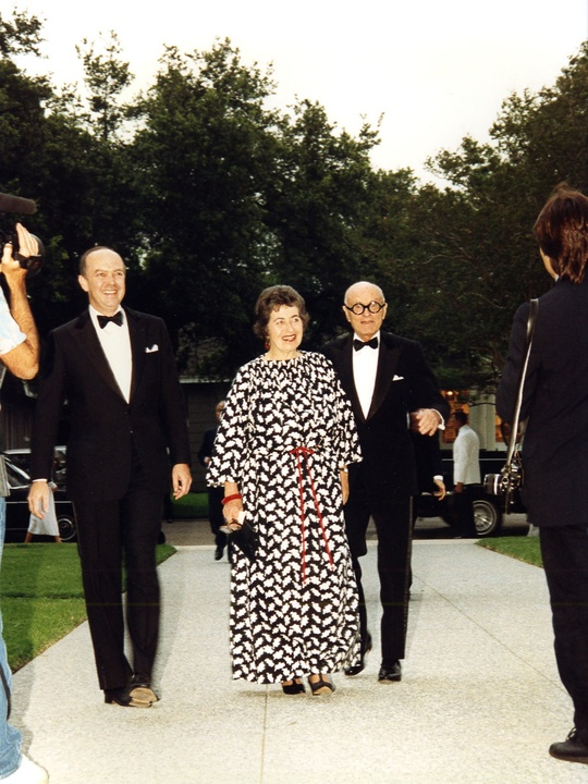 News_02_The Menil Collection opening, June 3, 1987_David Whitney_Ann Holmes_Philip Johnson