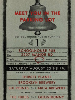 School House Pub one year anniversary party