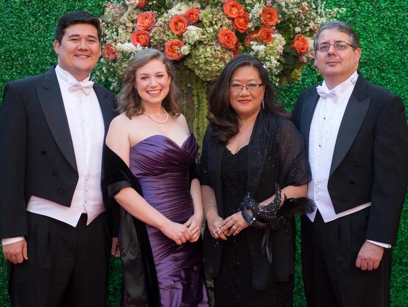 Houston, Houston grand opera ball, April 2017, David Catalano, Eleanora Benedict, Anna Catalano, Joel Catalano