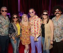 Butch and Carmen Mach, Julie and Rob Goytia and Carrie and John Vallone at the Alley Theatre Gala