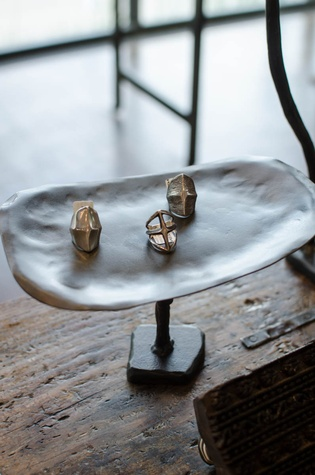 Margot Wolf Jewelry on display at By George