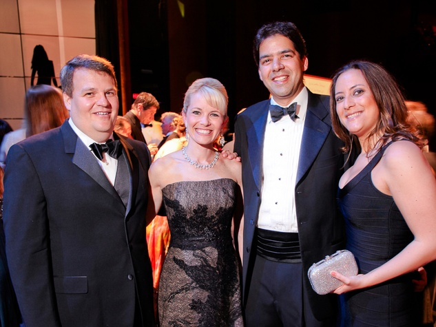 30 Matt Archer and Hillary Holmes Archer, from left, and Rahim and Erin Oberholtzer at the Mercury Baroque Gala March 2014