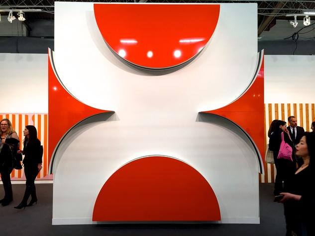 Lea Weingarten Armory Arts Week Fair Story March 2015 Image 15 Daniel Buren Retrospective @ kamel mennour