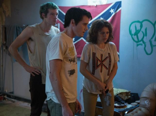 Callum Turner, Anton Yelchin, and Alia Shawkat in Green Room