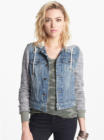 nordstrom Free People Denim & Knit Jacket