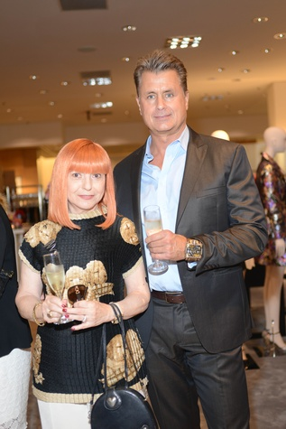 43 Elina Htun and Ken Christie at the HFAF at Neiman Marcus Art of Fashion September 2014
