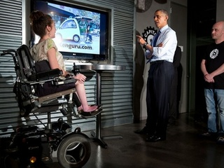 Stacy Zoern meeting with President Obama