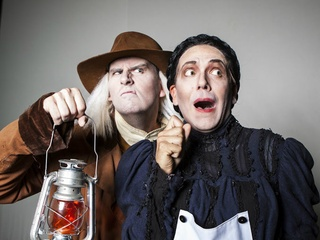 """WaterTower Theatre embraced farce and cross-dressing with """"The Mystery of Irma Vep."""""""