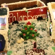 fifth-grader Grace DeLaune's gingerbread doghouse at the Lucky Dog Gingerbread Doghouse event December 2013