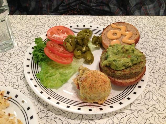 Spiral diner veggie burger