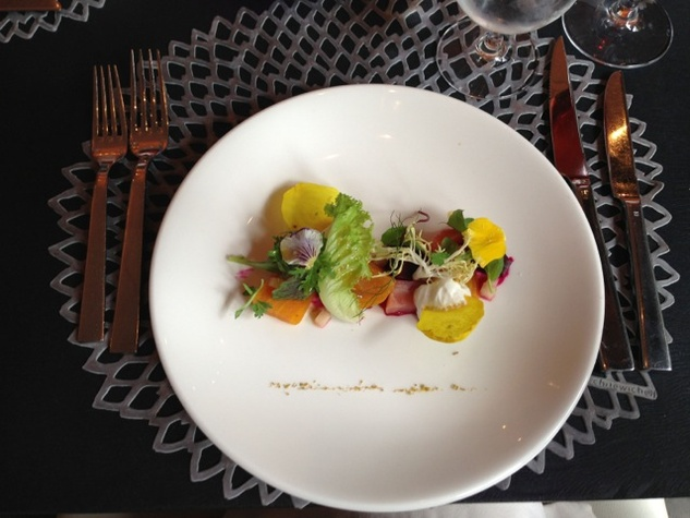 Trace - Beet Salad with Goat Cheese Mousse
