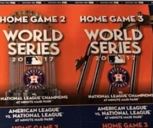 World Series tickets Astros Dodgers