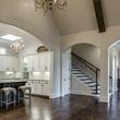 Open floorplan kitchen and foyer