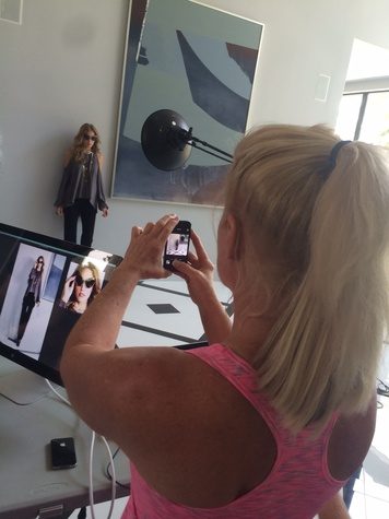Theresa Roemer photographs a look at photo shoot for Theresa Roemer collection