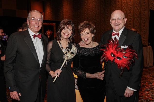 John Nau, from left, Roxann Neumann, Bobbie Nau and Tim Neumann at the Winter Ball January 2014