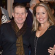 Philipe Licausi and Nicole Stresau at the Suitsupply Houston grand opening party December 2013