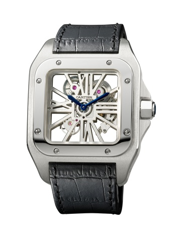 Cartier watches, Santos 100 Skeleton