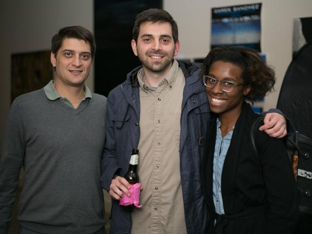 Pete Bastawros, Lourdan Aldredge, April Allen at Unbranded final happy hour