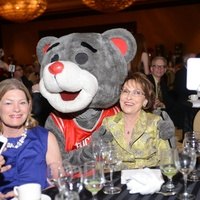 Allison Jensen, from left, Clutch and Linda Strickland at Nora's Home Gala May 2014