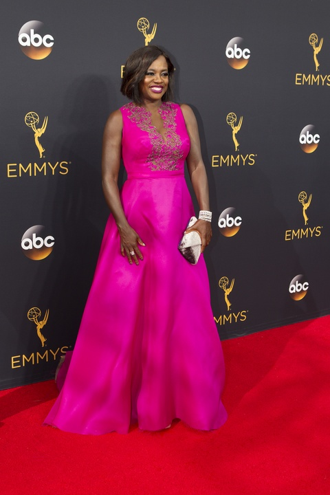 Viola Davis in Marchesa gown at Emmy Awards