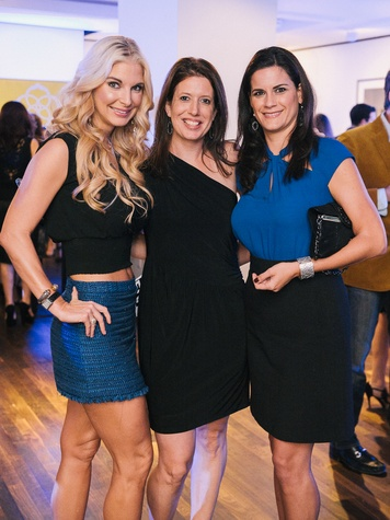 18 Dr. Romy Mitchell, from left, Shannon Carter and Katarina Tehlirian at CultureMap fifth anniversary birthday party October 2014