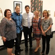 Christine West, from left, Lee Kaplan, Walter Mayer, Jeryn Woodard Mayer and Diana Hudson at the Lawndale Big Show preview party July 2014