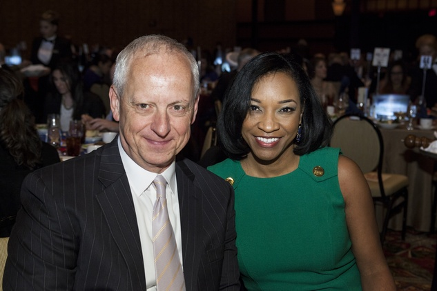 Don DePasquale and Emelda Douglas at the Neighborhood Centers' Heart of Gold Celebration February 2014
