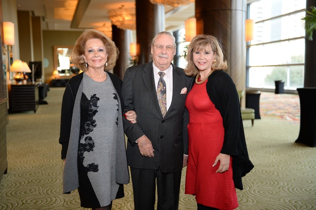 Philamena and Arthur Baird, left, with Cyndy Garza Roberts at the El Centro de Corazon luncheon March 2015