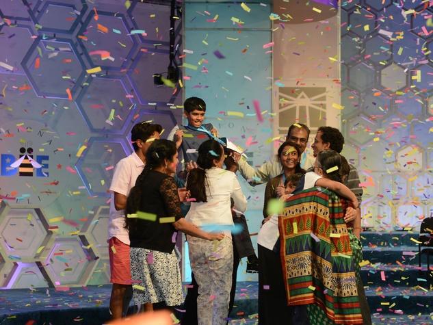 2016 Scripps National Spelling Bee Nihar Janga and family