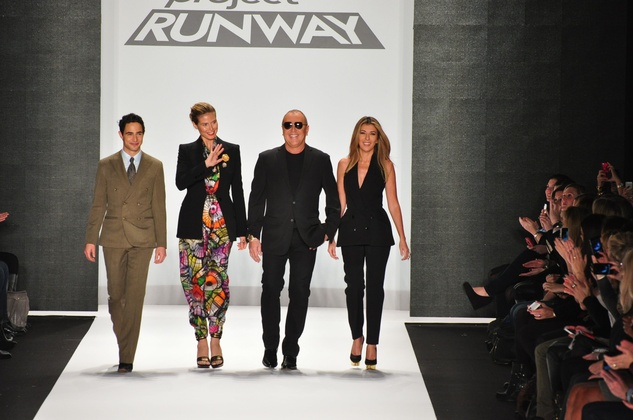 Zac Posen, Heidi Klum, Michael Kors, Nina Garcia, Project Runway, Mercedes-Benz Fashion Week, February 2013