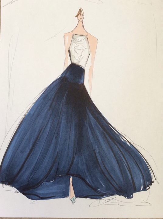 Fashion Week spring 2015 sketch Sept. 2014 Christian Siriano