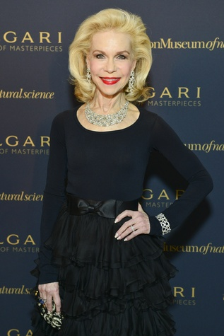 Lynn Wyatt at the Bulgari exhibition dinner April 2014