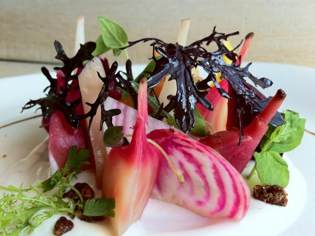 Beet salad at Oak restaurant in Dallas