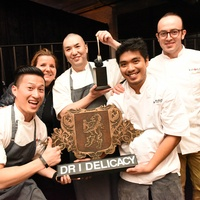 Houston, Truffle Chef Charity Challenge, January 2016, Kata Robata team with Chef Manabu Horiuchi, Diane Roederer.