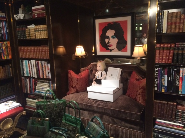 Dee Ocleppo and Tommy Hilfiger apartment with Elizabeth Taylor portrait