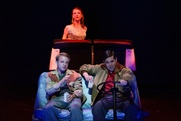 Rich (Jon Cook) and Danny (Jacob Trussell) on the road with Honey (Erin Barlow)
