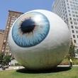 Eye by Tony Tasset at Joule hotel in Dallas