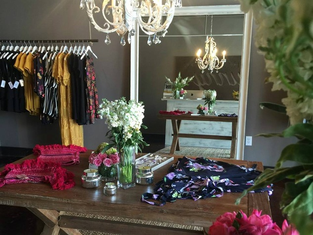 The Southern Bunny San Antonio shop interior dresses