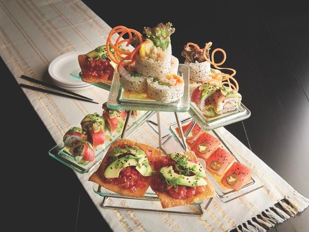 Mastro's sushi platter