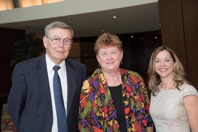 Center for Houston's Future luncheon, March 2016,  Owen Ralston, Beverly Kaufman, Julie Baker Finck