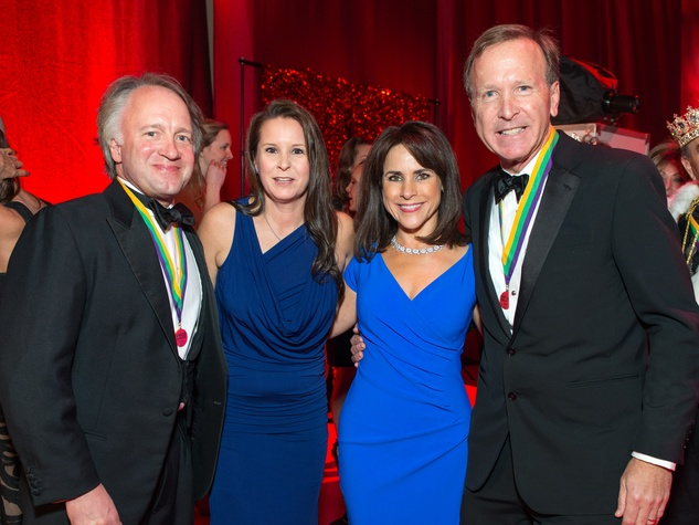 34 Dave and Heidi Jacquin, from left, and Maria and Neil Bush at the San Luis Salute February 2015