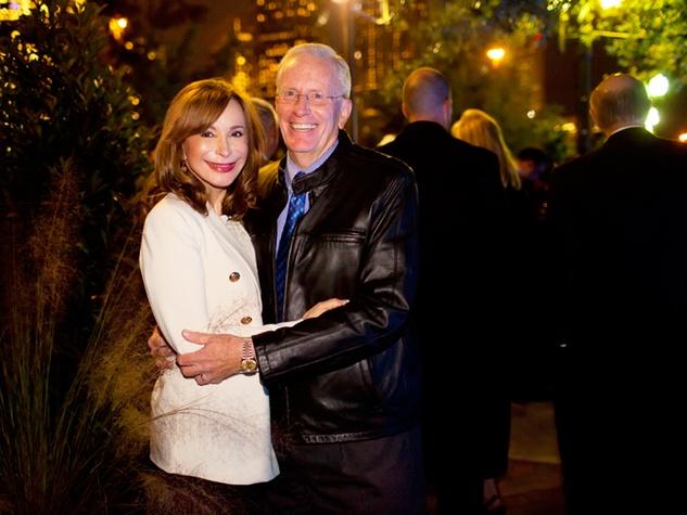 14 Sharon Adams and Joe Turner at the Buffalo Bayou Partnership's Green and Growing Gala November 2013