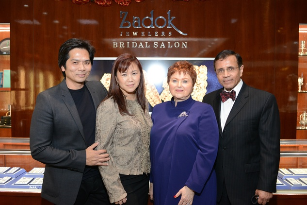 21 187 Wayne and Tammy Nguyen, from left, with Helene and Dror Zadok at the Zadok Jewelers Holiday Party December 2014