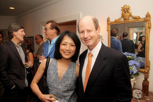 Chinhui and Eddie Allen at the Da Camera Jason Moran launch party September 2014