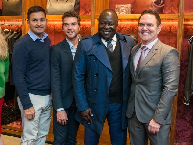 News, Shelby, Dolce & Gabbana dinner, Nov. 2015,  Danny Cantu, Kyle Denton, Anthony Danzey, Steve Locke
