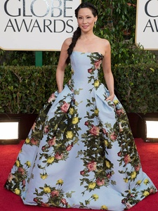 Golden Globe Awards, Lucy Liu, January 2013