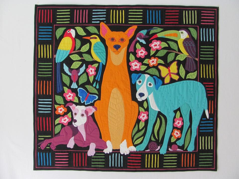 8 Los Perros de Panama International Quilt Festival special exhibit quilts October 2014